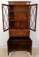 Bookcase, Desk Mahogany in the Antique Georgian Style - SOLD